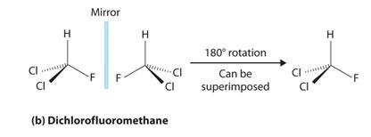 Dichlorofluoromethane can be superimposed after 180° rotation
