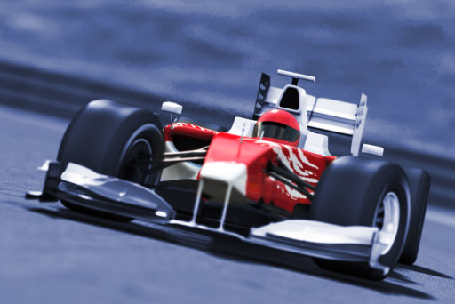 Formula 1 car during a race
