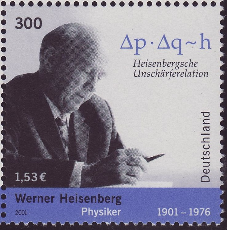 Werner Heisenberg and the uncertainty principle.