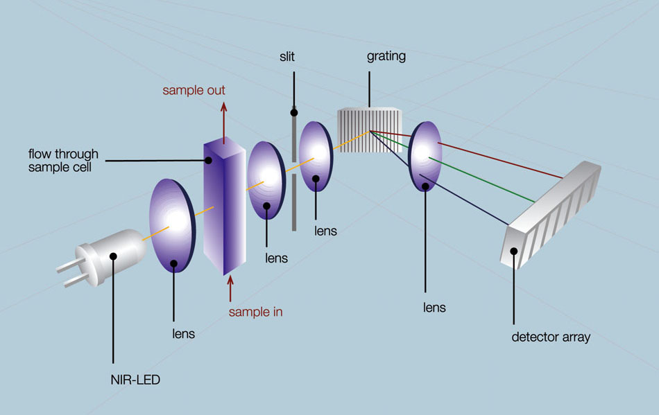 Schematic setup of the optical path
