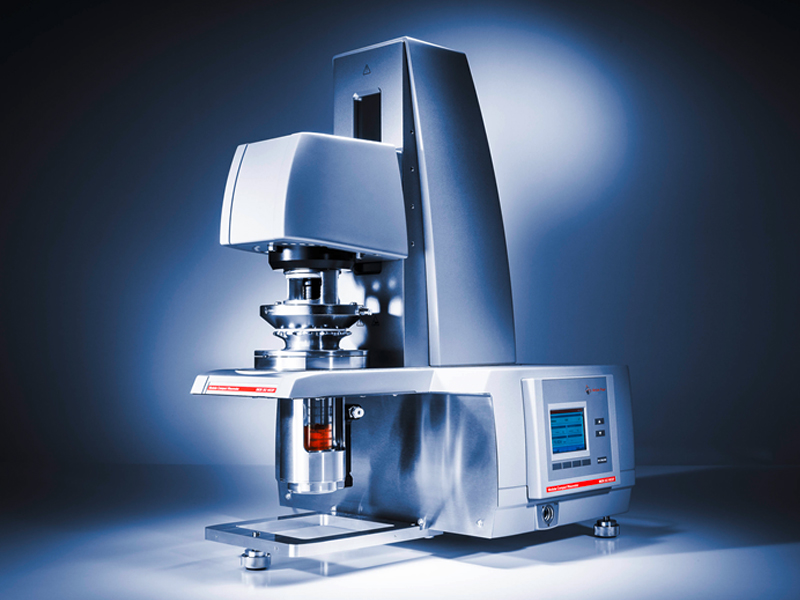 Anton Paar rheometer equipped with a powder cell